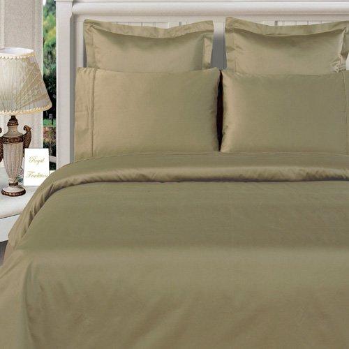 California King Size Sage-Green Duvet Cover Set 100% Bamboo Cotton