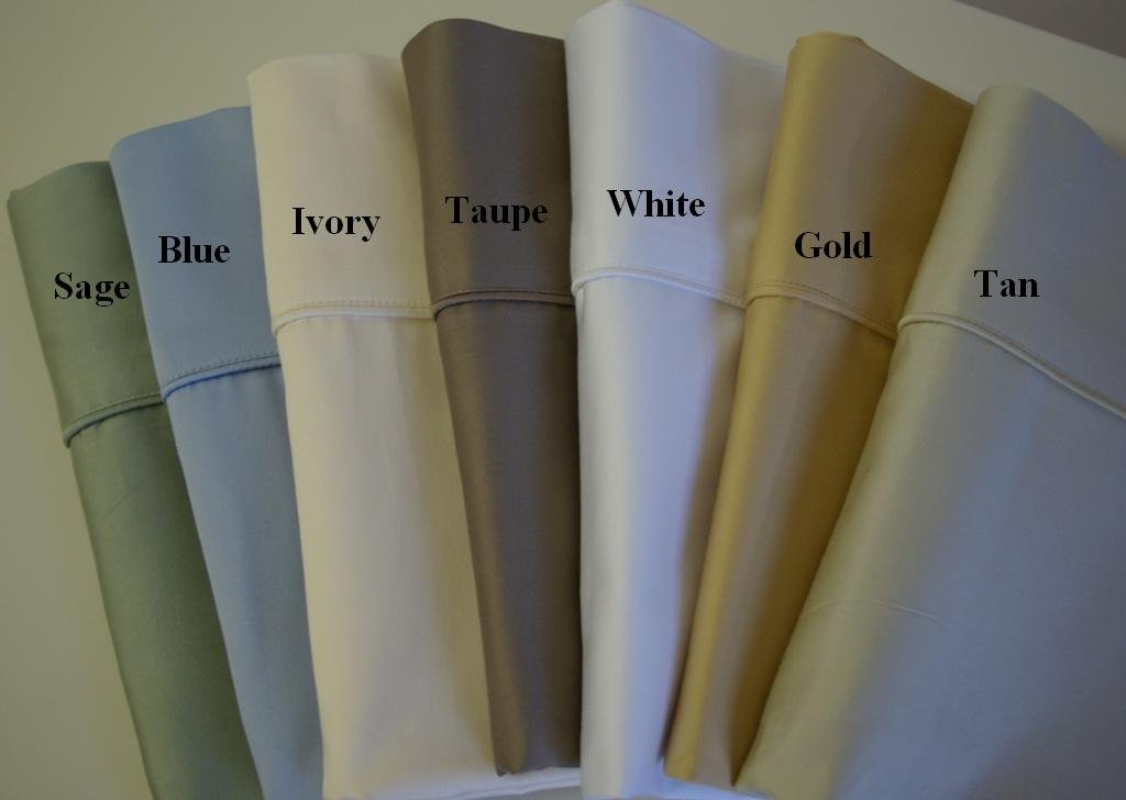 Calking Size Solid White 100% Bamboo Cotton Sheet Sets