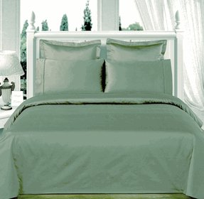 Sage-Green Solid Down Alternative 4-pc Comforter Set,100% Egyptian cotton, 550 Thread count