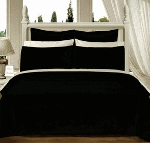 Black Solid Down Alternative 4-pc Comforter Set,100% Egyptian cotton, 550 Thread count