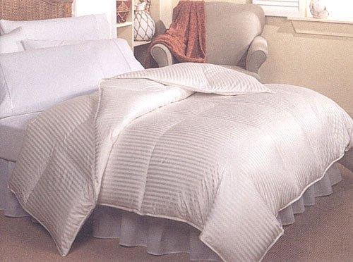 Royal Hotel 900TC Silk Down Queen comforter 50oz. Cream Stripes