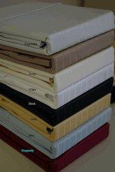 T600 CalKing Waterbed Pin Stripe Ivory Sheet set (unattached)