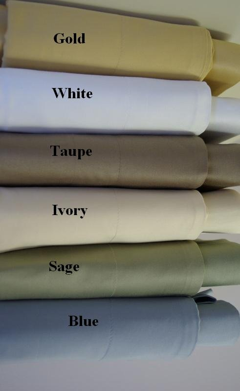 1200-TC Cal-King/Waterbed Solid Sage-Green Sheet Set (unattached)