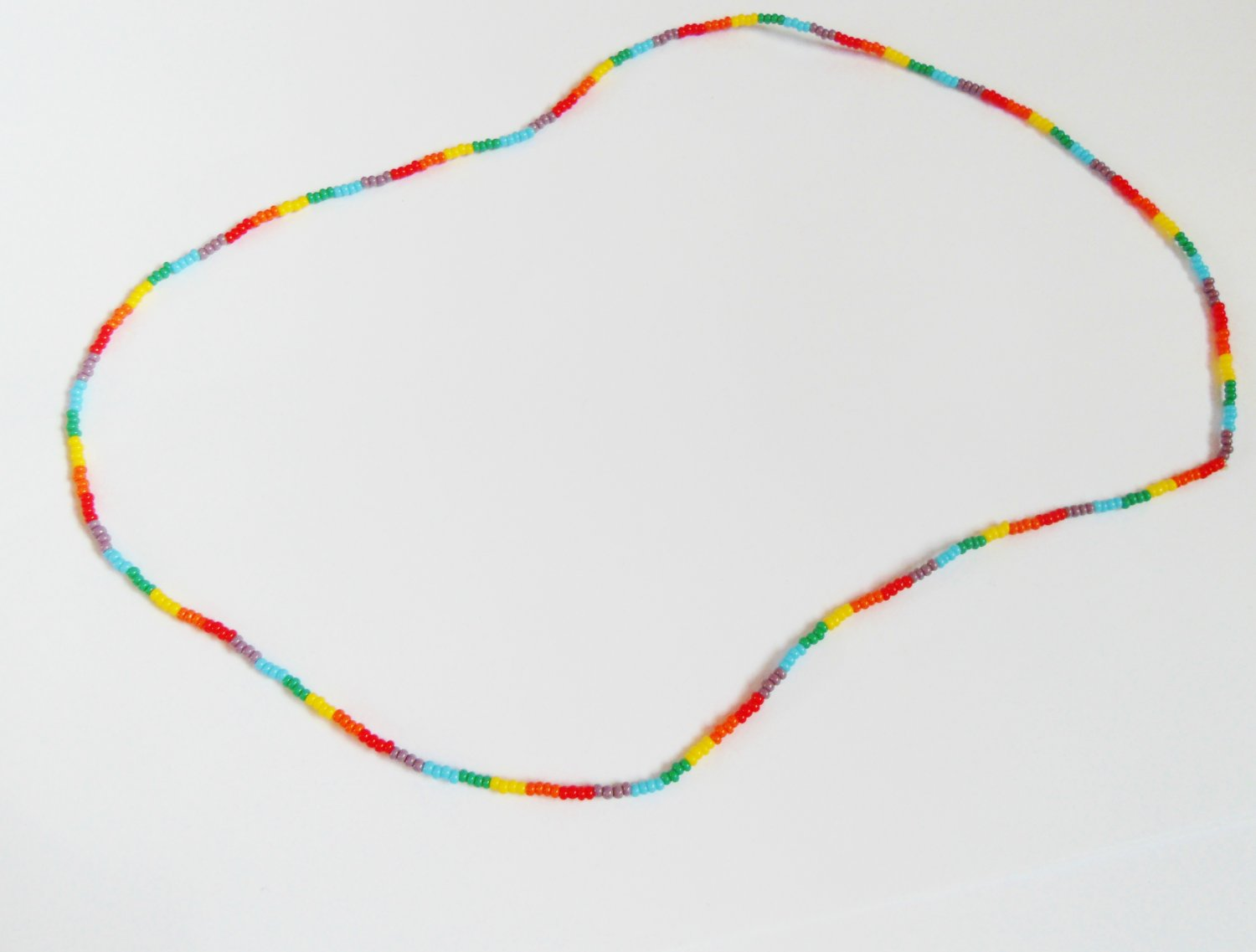 Multi rainbow stretchy necklace