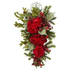 27� Christmas Hydrangea Teardrop
