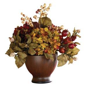 Autumn Hydrangea w/Round Vase