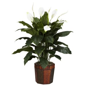 Spathyfillum w/Vase Silk Plant