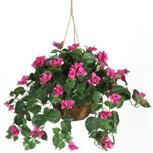 Bougainvillea Silk Hanging Basket