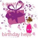 A great big birthday hello card