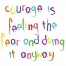 Courage is ... blank greetings card