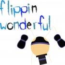 Flippin' Wonderful ... Congratulations card