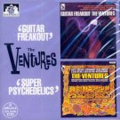 """The Ventures-2 LPs On 1 CD:  """"Guitar Freakout""""/""""Super Psychedelic"""" (Import)"""
