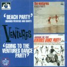 """The Ventures-2 Albums On 1 CD:  """"Beach Party""""/""""Going To The Ventures Dance Party"""" (Import)"""