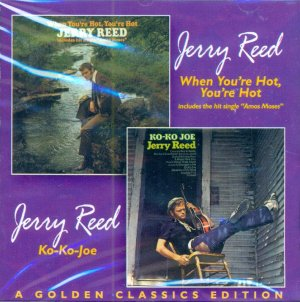 """Jerry Reed-2 LP's On 1 CD """"When You're Hot You're Hot""""/""""Ko-Ko-Joe"""""""