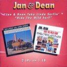 """Jan & Dean-2 LP's On 1 CD:  """"Jan & Dean Take Linda Surfin'"""" / """"Ride The Wild Surf"""""""