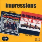 """Impressions-2 LP's On 1 CD """"One By One""""/""""Ridin' High"""" (Import)"""