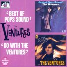 """The Ventures-2 LP's On 1 CD:  """"Best Of Pops Sound"""" / """"Go With The Ventures"""" (Import)"""