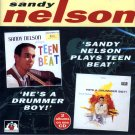 "Sandy Nelson-2 LP's On 1 CD:  ""Plays Teen Beat"" / ""He's A Drummer Boy"" (Import)"