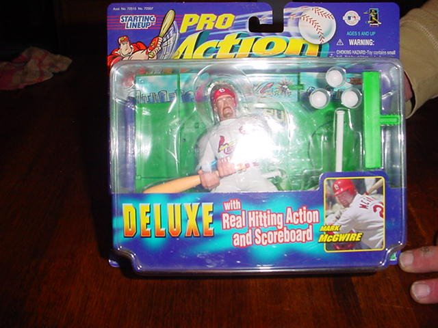 Baseball Mark McGuire Deluxe with real hitting action/scoreboard