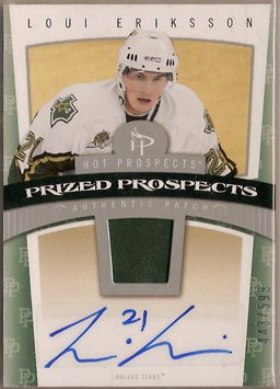 Loui Eriksson 2006-07 Hot Prospects #111 443/599 AUTO PATCH SN RC