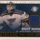 Brent Johnson 2002-03 Pacific Quest for the Cup Jerseys #18 JSY