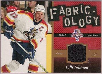 Olli Jokinen 2006-07 Fleer Fabricology #FOJ JSY