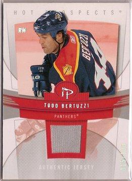 Todd Bertuzzi 2006-07 Hot Prospects Red Hot #44 15/100 JSY SN