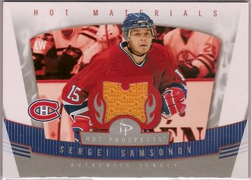 Sergei Samsonov 2006-07 Hot Prospects Hot Materials #HMSS JSY