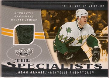 Jason Arnott 2006-07 UD Powerplay Specialists #SJA JSY