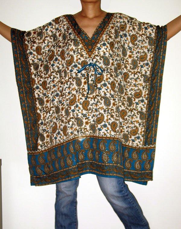 Gypsy Scarf Caftan Wing Casual Poncho Top or Dress