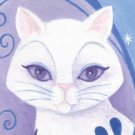 Star Bright ACEO Satin Giclee Cat Print By Tj Sahadja10