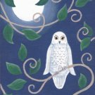 Night Owl ACEO Canvas Giclee Print Fantasy By Tj Sahadja10