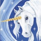 Star Light ACEO Unicorn Canvas Giclee Print by Tj Sahadja10