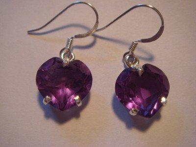 "Color Change Alexandrite Earrings  1.2""    .925 Sterling Silver"