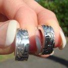 """Bali Style Earrings  .5""""    .925 Sterling Silver"""