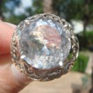 White Topaz Ring  size 7 1/2   .925 Sterling Silver
