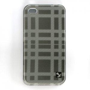 Hard Plastic Design Case for Apple iPhone 4/4S - Gray Check