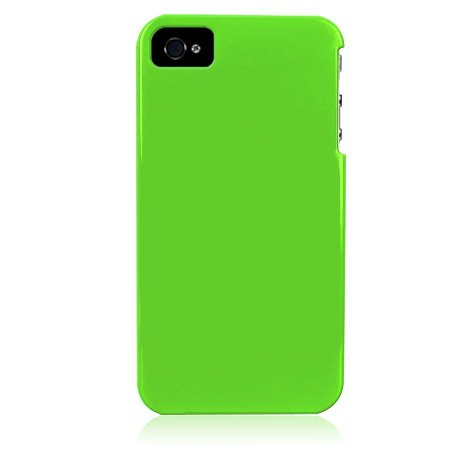 Hard Plastic Glossy Back Cover Case for Apple iPhone 4/4S - Apple Green
