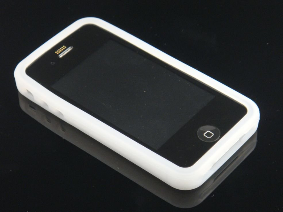 Soft Silicone Rubber Skin Cover Case for Apple iPhone 4/4S - Clear