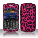 Hard Plastic Rubber Feel Design Case for Blackberry Bold 9700/9780 - Hot Pink Leopard
