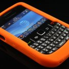 Soft Silicone Skin Cover Case for Blackberry Curve 8520 - Orange