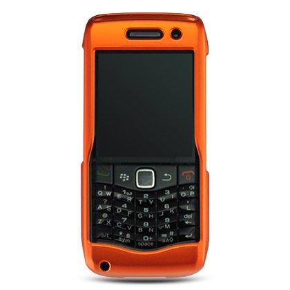 Hard Plastic Rubber Feel Case for Blackberry Pearl 9100 - Orange