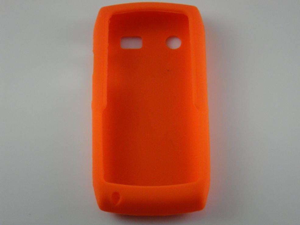Soft Silicone Skin Cover Case for Blackberry Pearl 9100 - Orange
