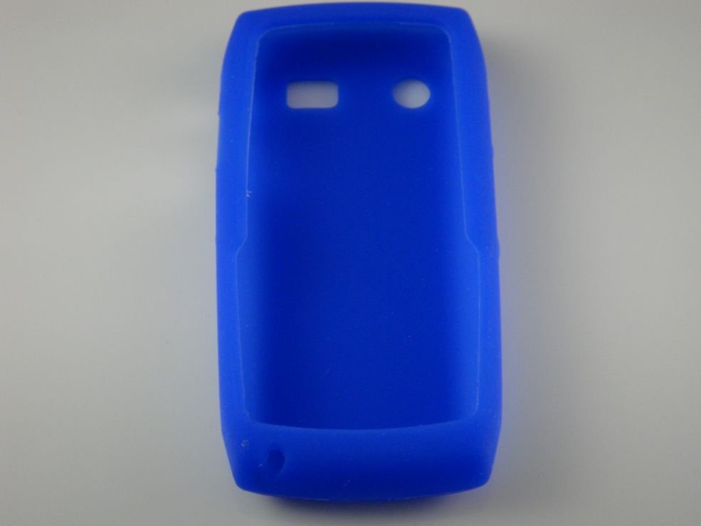 Soft Silicone Skin Cover Case for Blackberry Pearl 9100 - Blue