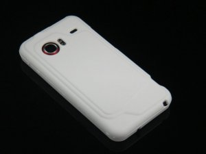 Hard Plastic Rubber Feel Case for HTC Droid Incredible ADR 6300 - White