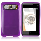 Soft Crystal Gel Frost Skin Cover Case for HTC HD7/HD7S - Purple