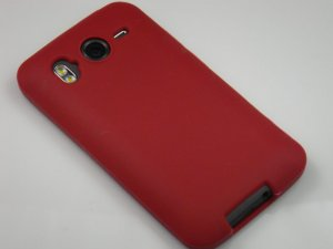 Soft Silicone Skin Cover Case for HTC Inspire 4G/Desire - Burgundy