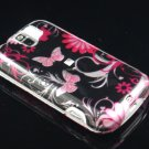 Hard Plastic Design Case for HTC Mytouch Slide 3G (T-Mobile) - Pink Butterfly