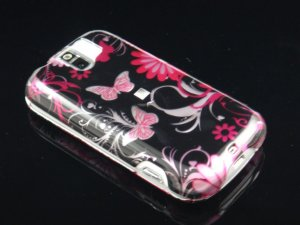 Hard Plastic Design Case for HTC Mytouch Slide 3G (T-Mobile) - Pink Butterfly