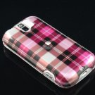 Hard Plastic Design Case for HTC Mytouch Slide 3G (T-Mobile) - Hot Pink Check
